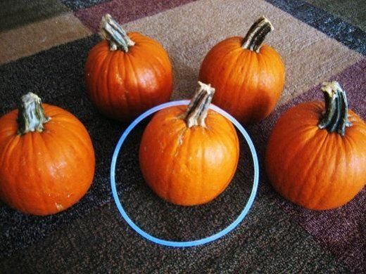 Pumpkin Ring Toss OR make a ghost & play ring the ghost in the dark