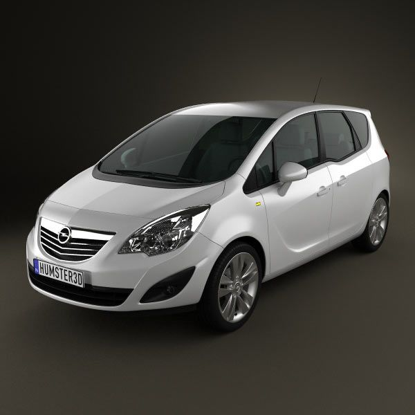 Opel Meriva B 2011 3d model from humster3d.com. Price: $75