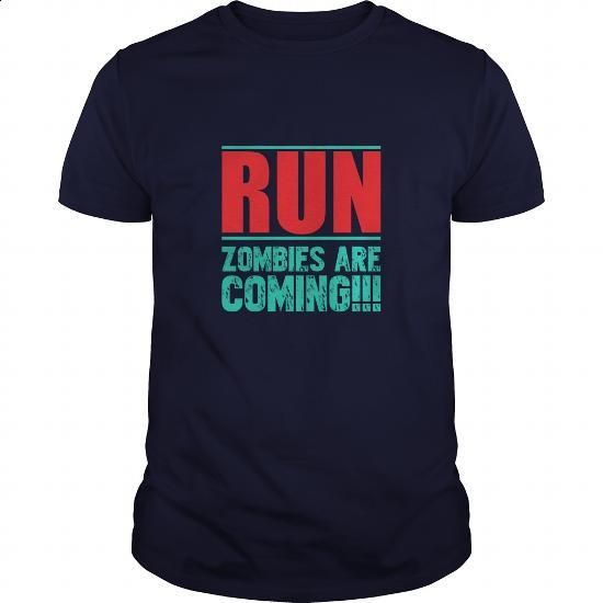 Run Zombies Are Coming Great Gift For Any Zombies Lover - #boys #red sweatshirt…