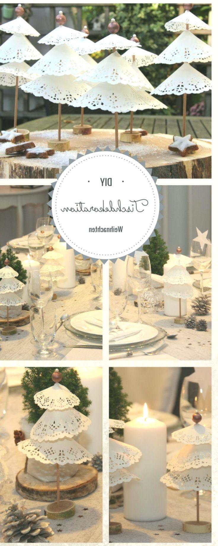 Weihnachtliche Tischdekoration mit Tortenspitzenbäumchen #fensterbank