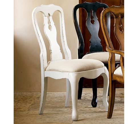 Queen Anne Upholstered Chair   Pottery Barn  This is the one I want   19967 best Dining furniture makeover  Queen Anne   MORE  images on  . Antique Queen Anne Upholstered Chairs. Home Design Ideas