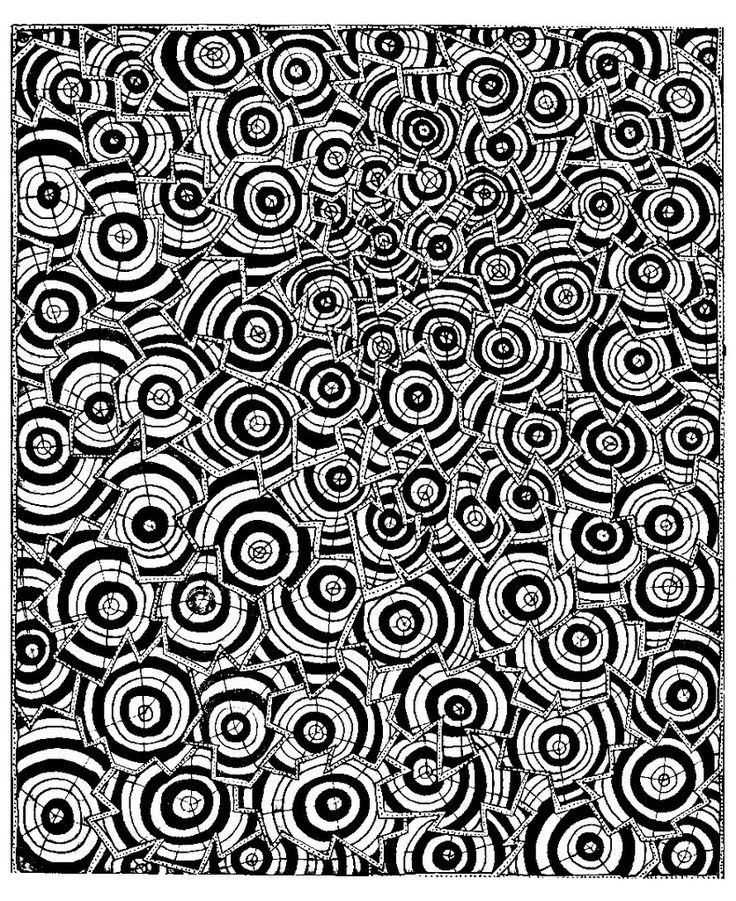 28 best Op Art coloring pages images on Pinterest Free coloring - best of coloring pages for shapes and colors