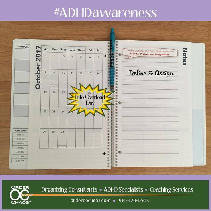 I#ADHDAwarenessmonth! It's a perfect day to talk about how to prevent information overload especially in our #students  when they have projects or papers that are too overwhelming.⠀ ⠀ Try Defining and Assigning! Break down the assignment into tasks that are manageable. and define each step as you go. Then plan when you are going to actually get it done!