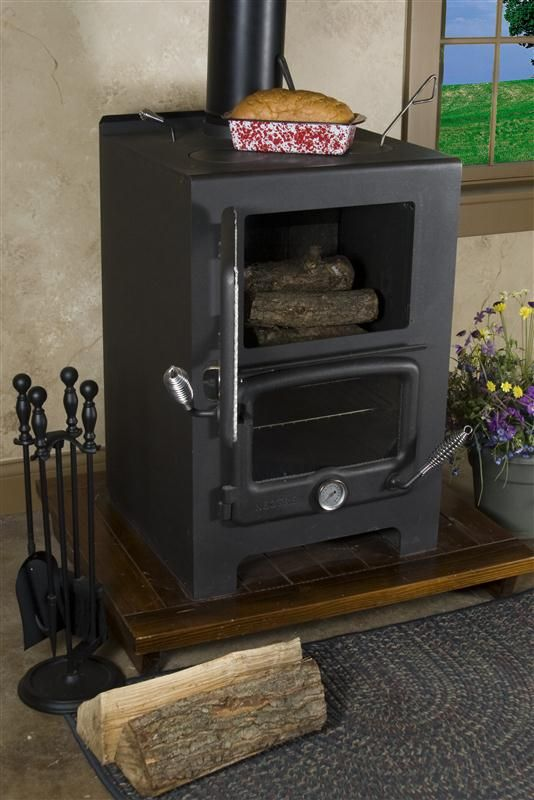Baker's Oven Wood Heat/Cook Stove - 114 Best Tiny Home Wood Stoves For Heat/Cooking. More On Truck