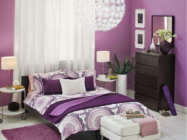 Schlafzimmer ideen wandgestaltung lila  Die besten 25+ Lila raumdekorationen Ideen nur auf Pinterest ...