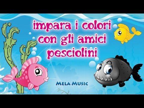 Impara i colori con gli amici pesciolini - Canzoni per bambini di Mela Music - YouTube