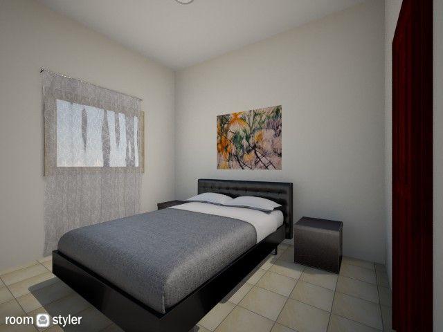 Torre CG6.  Habitacion de visita. Pintura, cambio de cortinas. colcha, cuadro abstracto