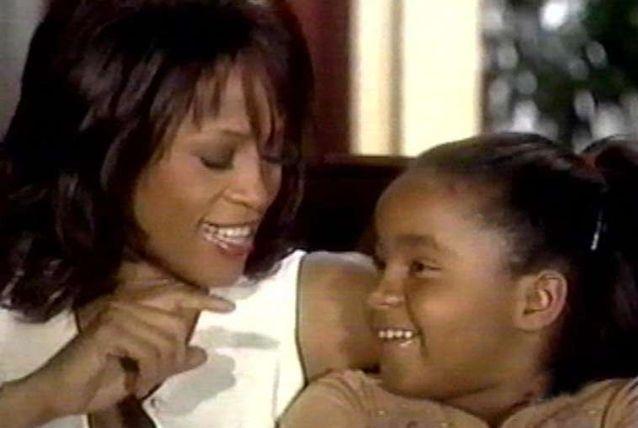 Whitney Houston with her daughter Bobbi Kristina