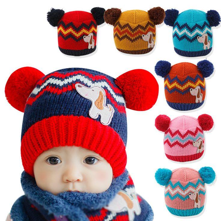 >> Click to Buy << Thick Warm Cozy 1pieces Cute  winter hats Suitable 6-36 months old  star baby hats Dog ear cap Children's Kit Lens Cap kids cap #Affiliate