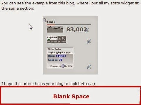 REMOVE BLANK SPACE BELOW POST.