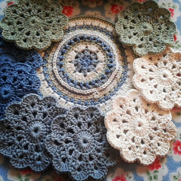 Crochet coasters using #bthq doilies pattern and mandala from #attic24 x
