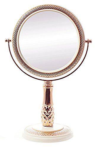 JustNile Two-Sided Modern Tabletop Vanity Mirror - White and Rose Gold, http://www.amazon.com/dp/B016V6DEGI/ref=cm_sw_r_pi_awdm_x_jiY5xb4RE892Z