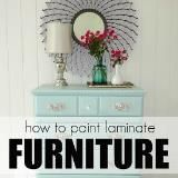 Linked to: www.livelovediy.com/2013/06/how-to-paint-laminate-furniture.html