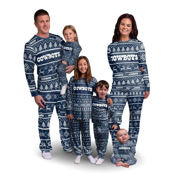 Dallas Cowboys Nfl Family Holiday Pajamas Family Holiday Pajamas Holiday Pajamas Family Christmas Shirts