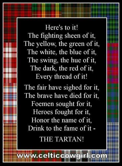 Poem by Murdoch MacLean Happy Tartan Day!