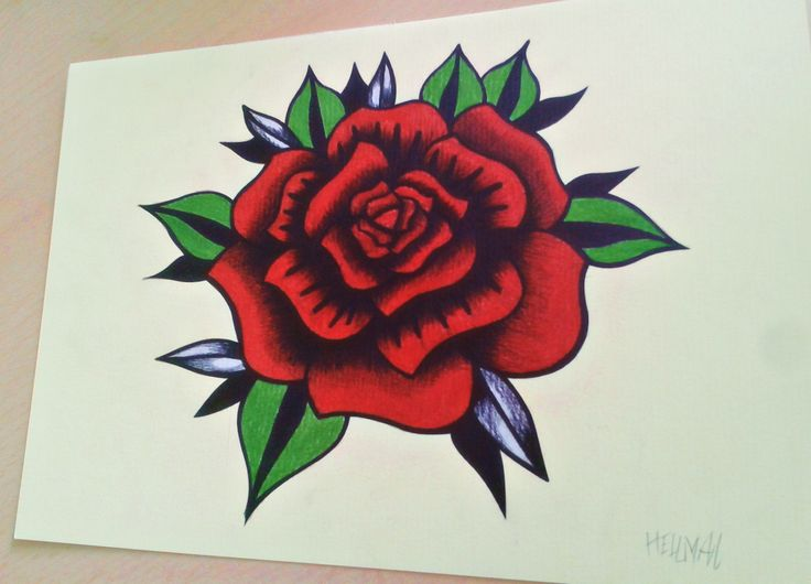 Another project #rose #rosetattoo #oldschoolstyle #oldschoolrose #tattoo #oldschooltattoo #hellman