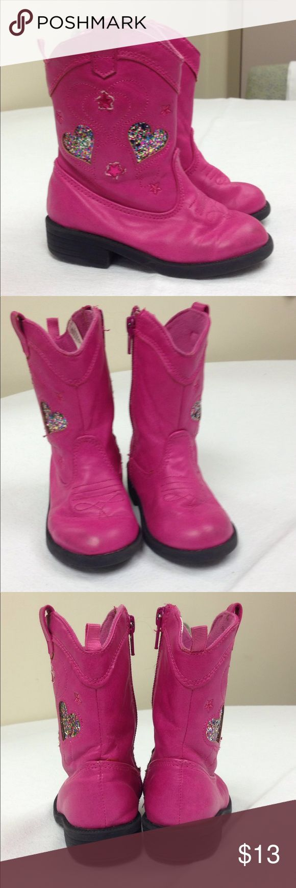 🌴NEW LISTING🌴 Koala Kids Cowboy Boots Pink. Glitter. Lined. Zipper closure. Show signs of wear. Size 7. (11/16) Koala Kids Shoes Boots