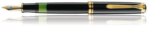 Pelikan, M800 Souveran Fountain Pen, Black w/Black Cap & Gold Plated Trim - http://www.newofficestore.com/pelikan-m800-souveran-fountain-pen-black-wblack-cap-gold-plated-trim/