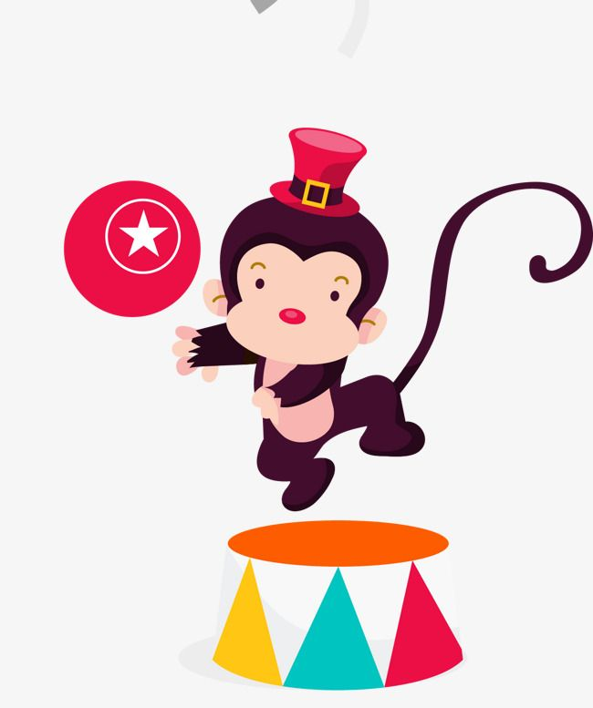 Circus Monkey Circus Clipart Monkey Clipart Gules Png And Vector With Transparent Background For Free Download Circus Monkey Vintage Circus Party Circus Decorations