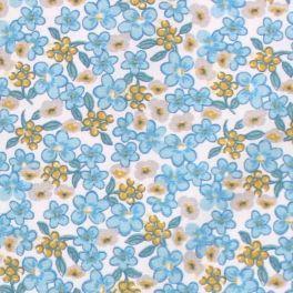 Tissu en cretonne 100% coton à motif de plumes.