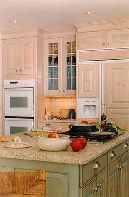 Island a different color kitchens pinterest - App to change color of kitchen cabinets ...