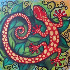 Resultado de imagen para gecko painting