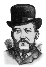 n 1888 illustration of Frederick Abberline, from the newspaper, Illustrated Police News, who was Chief Inspector for the London Metropolitan Police and a prominent police figure in the investigation into the 1888 Jack the Ripper, serial killer murders.