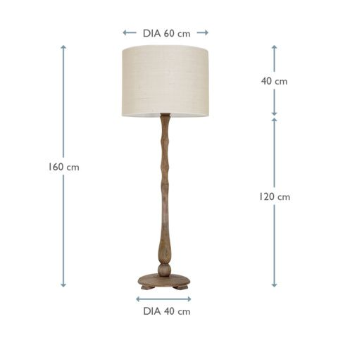 Lovely Wood Floor Lamp | Woodberry | Loaf