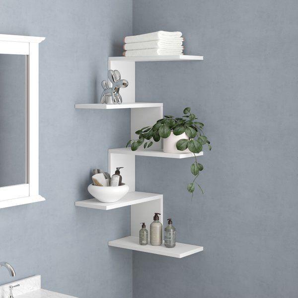 Juarbe Modern Wall Shelf In 2020 Wall Shelf Decor Modern Wall Shelf Corner Shelf Design