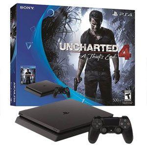 PlayStation 4 Slim 500GB Console / Uncharted 4 Bundle