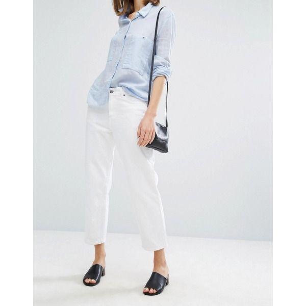 Dr Denim - Haze - Kurze, legere Jeans mit mittelhoher Taille - Weiß