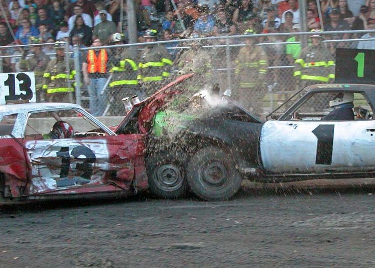 I absolutely love photos that capture the radiator exploding... Is that weird? I can never get a good shot of this