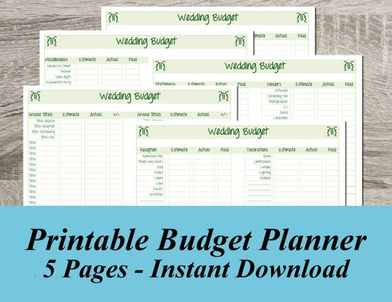 Top 5 Wedding Planning And Budget Checklists: 29 Best Images About Printable Wedding Planners On
