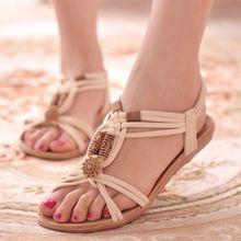 Sandalias de las mujeres Zapatos de Mujer Sandalias de Gladiador de Verano Beach Flats Zapatos de Las Señoras Sandalias Mujer Caliente Negro(China (Mainland))
