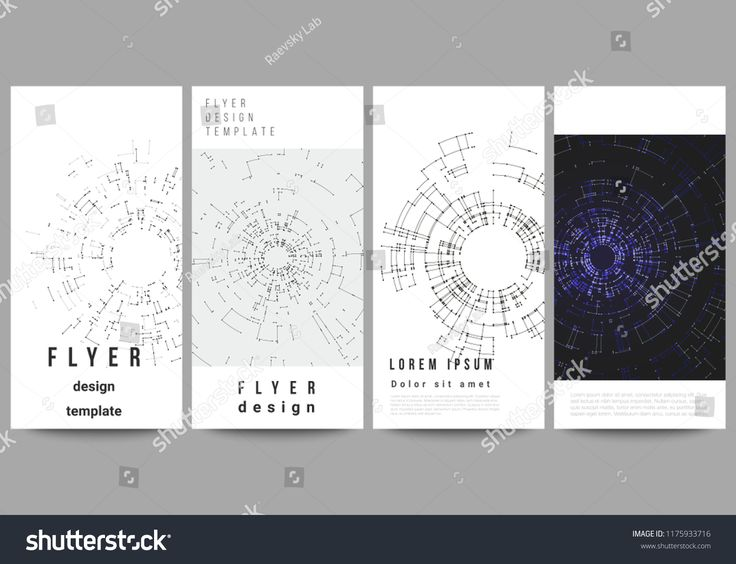 The minimalistic vector illustration of editable layout of flyer, banner design templates. Network connection concept with connecting lines and dots. …