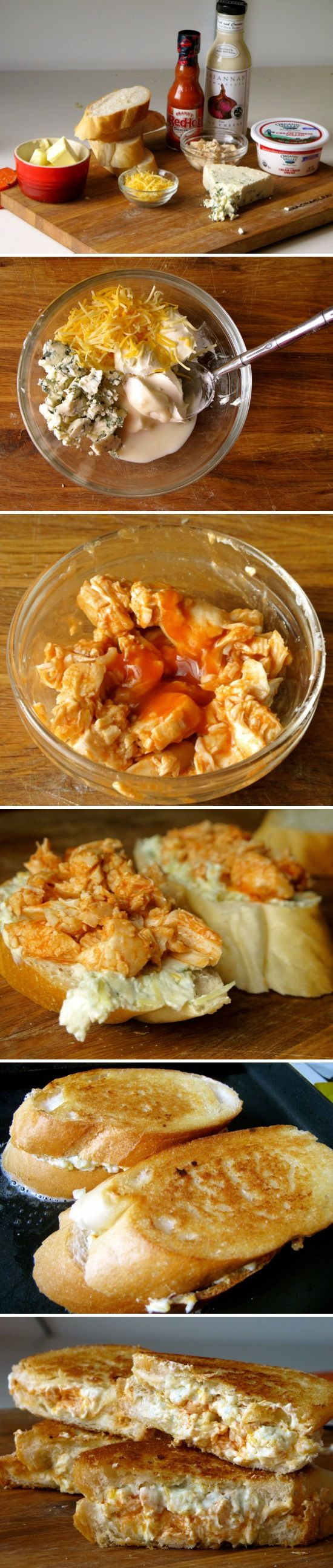 Grilled Blue Cheese and Buffalo Chicken