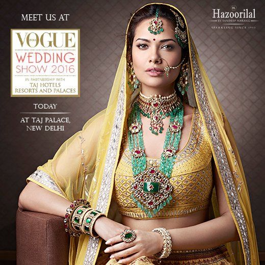 Catch a glimpse of our enthralling wedding masterpieces at the Vogue Wedding Show 2016 in New Delhi starting from today.