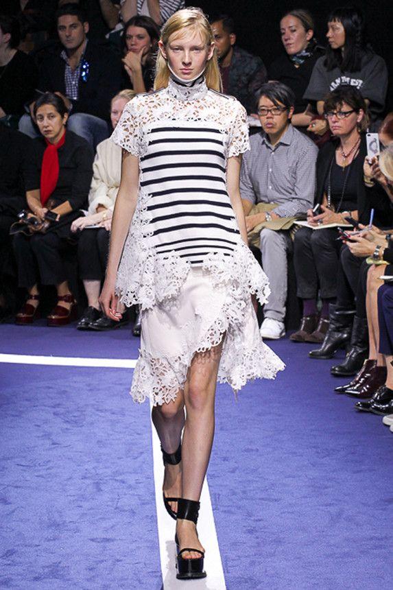 The Sacai Spring 2015 runway show. See more on Vogue.com.