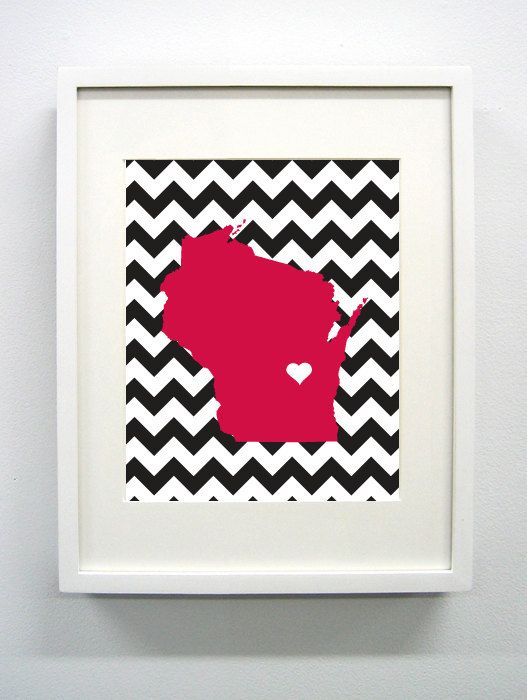 University of Wisconsin Giclée Print - 8x10 -  Go Badgers on Etsy, $14.00