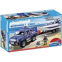 Playmobil - Police Truck with Speedboat (5187)
