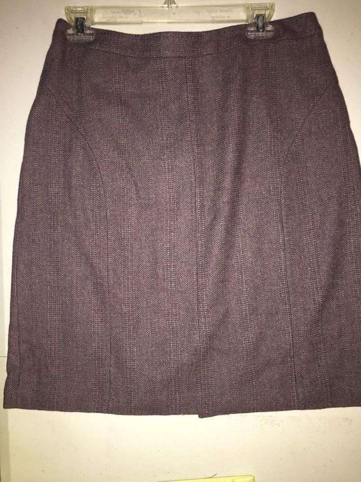 CAREER COLDWATER CREEK 10P PURPLE/LAVENDER TWEED PENCIL SKIRT STITCHING  | eBay