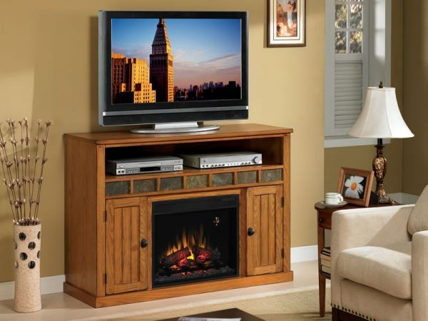 Sedona Rustic Oak Fireplace TV Stand, $699.99. Available At Just Cabinets  Furniture U0026 More