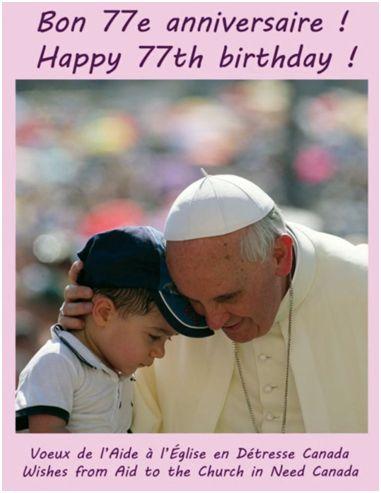 © Grzegorz Galaska ACN's Birthday Card for Pope Francis