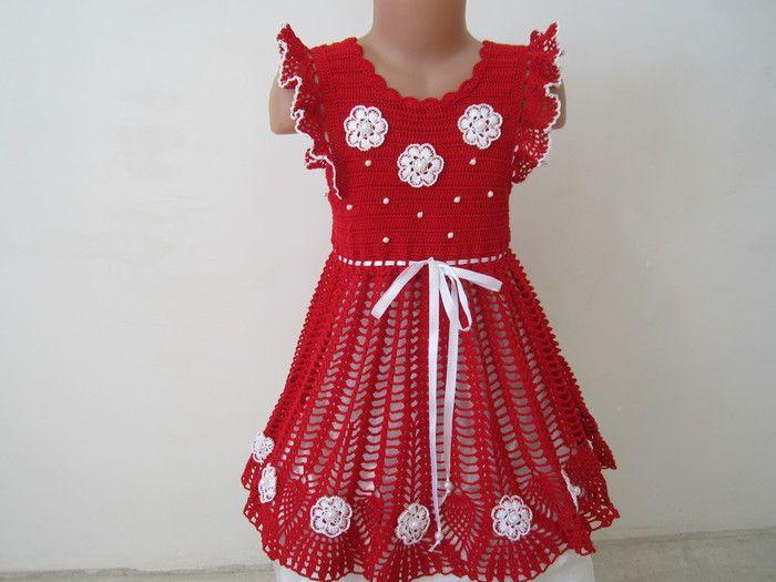 Crochet dress for girl