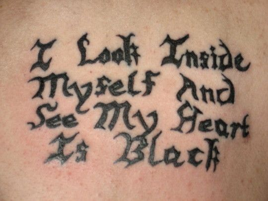 Tattoo Lettering - pictures, photos, images