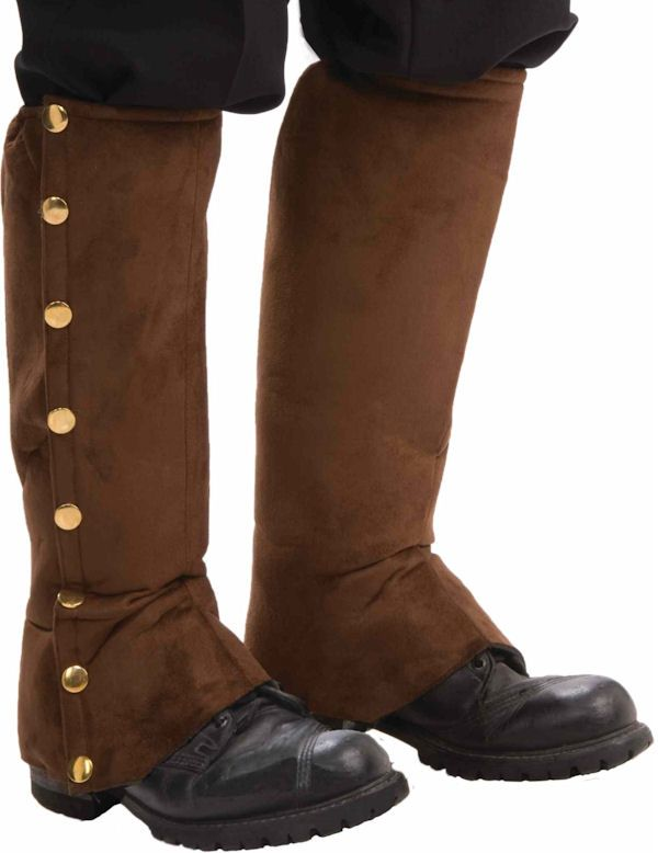 brown steampunk spats