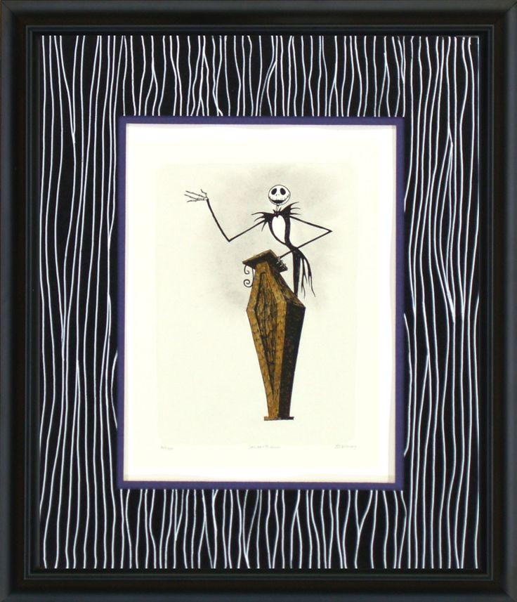 Nightmare Before Christmas - Jack Skellington with Coffin Podium - World-Wide-Art.com - #nightmarebeforechristmas #halloween #disney #timburton