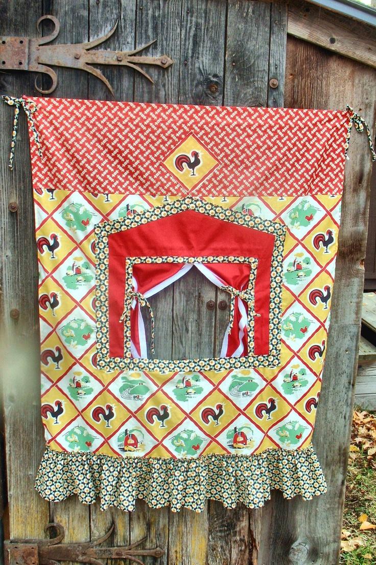 Doorway Puppet Theater by Vivarue on Etsy