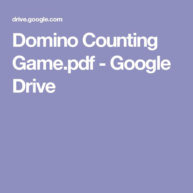 Domino Counting Game.pdf - Google Drive