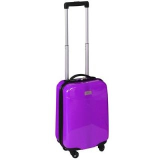 It's Purple! Perfect for easily recognisable hang luggage. Only £20. http://www.sportsdirect.com/no-fear-4-wheel-suitcase-purple-708210